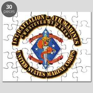 1st Bn - 4th Marines with Text Puzzle