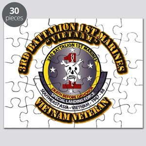 SSI - 3rd Battalion - 1st Marines USMC VN Puzzle