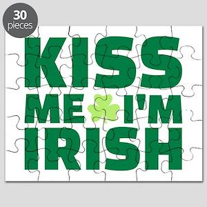 Kiss me I'm Irish shamrock Puzzle