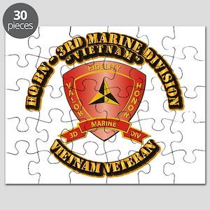 USMC - HQ Bn - 3rd Marine Division VN Puzzle