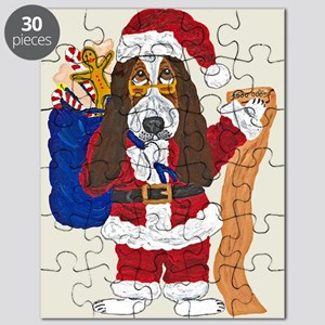 Basset Santa Checking List Of Good Bassets Puzzle