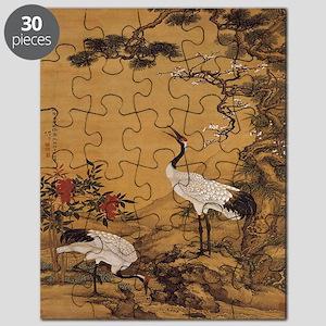 cranes-woodblock-print-iPad-case Puzzle