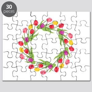 Tulips Wreath Puzzle