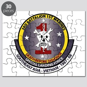 SSI - 3rd Battalion - 1st Marines USMC Puzzle