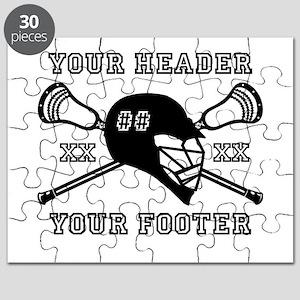 Lacrosse Team Black Alpha Puzzle