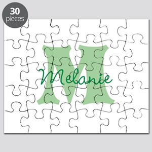 CUSTOM Green Monogram Puzzle