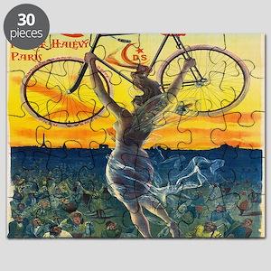 Vintage Paris Fairy Bicycle Puzzle