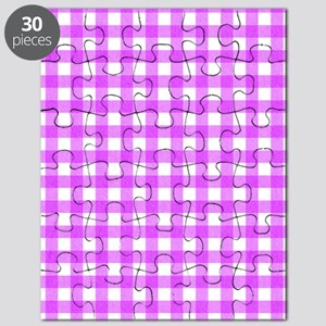 Pink Gingham Pattern Puzzle