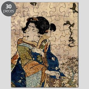 Vintage Japanese Art Woman Puzzle