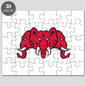 Three Headed Elephant Retro Puzzle