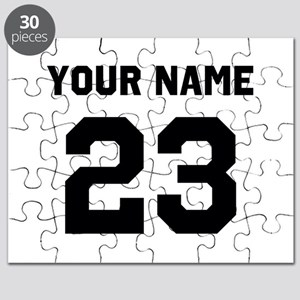 Customize sports jersey number Puzzle