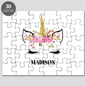 Unicorn Face Eyelashes Personalized Gift Puzzle