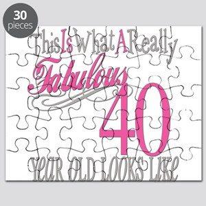 40th Birthday Gifts Puzzle
