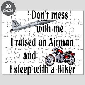 Raised Airman Sleep Biker Puzzle