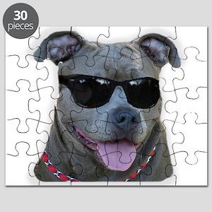 Pitbull in sunglasses Puzzle