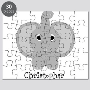 Personalized Elephant Design Puzzle