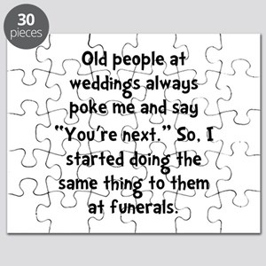 Old People Funerals Puzzle