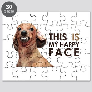 Happy Face Dachshund Puzzle