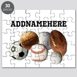 Sports Balls, Custom Name Puzzle