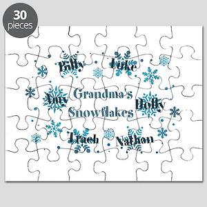 Custom kids snowflakes Puzzle