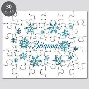 Custom name Snowflakes Puzzle