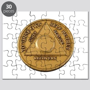 Alcoholics Anonymous Anniversary Chip Puzzle