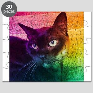 Burmese Cat Portrait B Puzzle