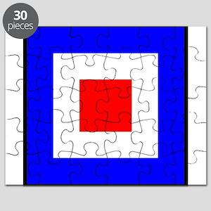 Nautical Flag Code Whiskey Puzzle