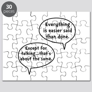 Easier Said Than Done Puzzle