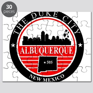 Albuquerque logo black and red Puzzle