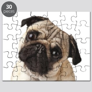 Pug Oil Painting Face Puzzle