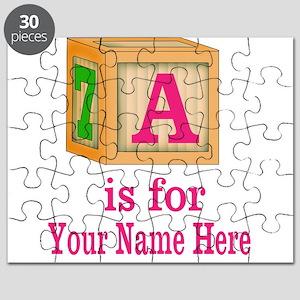Custom Pink Block Puzzle