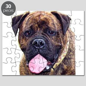 Brindle Bullmastiff Head Puzzle
