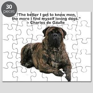 Bullmastiff Brindle-love dogs Puzzle