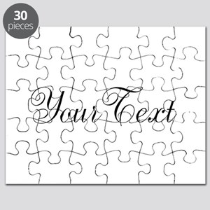 Personalizable Black Script Puzzle
