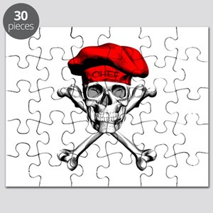 Red Culinary Chef Skull Puzzle