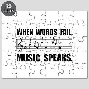 Words Fail Music Speaks Puzzle