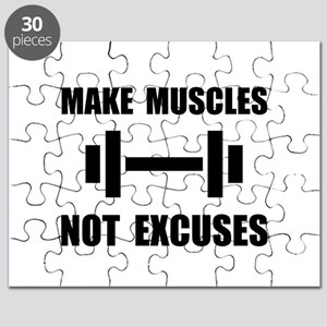Make Muscles Not Excuses Puzzle