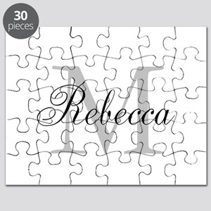 Monogram Initial And Name Personalize It! Puzzle