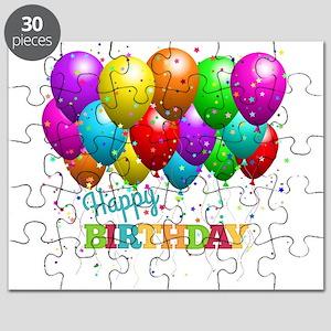 Trendy Happy Birthday Balloons Puzzle