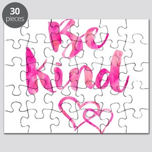 Be Kind Watercolor Inspirational Quote Moti Puzzle