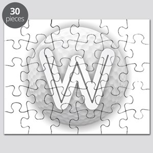 W Golf Ball - Monogram Golf Ball - Monogram Puzzle