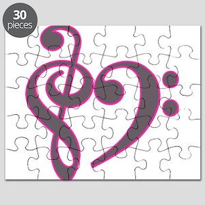 musicheartsilverpink Puzzle