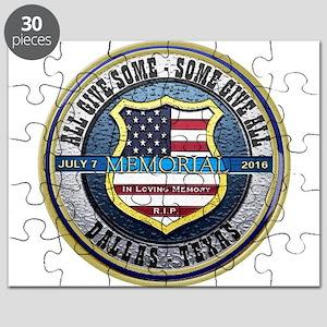 Memorial Dallas Police Thin Blue Line Puzzle