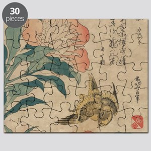 Hokusai Peony and Canary 1 Puzzle