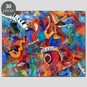 Music Trio Curvy Piano Colorful Abstract Mu Puzzle
