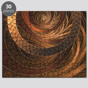 Brown, Bronze, Wicker, and Rattan Fractal C Puzzle