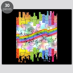 Colorful Musical Theme Puzzle
