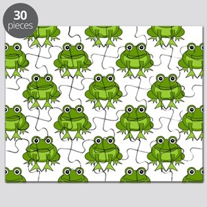 Cute Happy Frog Pattern Puzzle