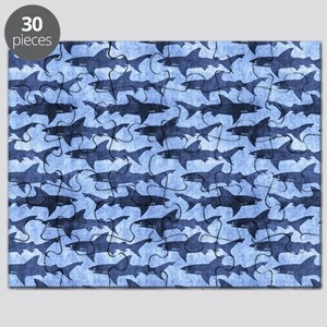 Sharks in the Blue Sea Puzzle